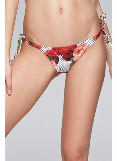 Reflections Mix Match Yandan Bağlamalı Desenli Bikini Alt Renkli